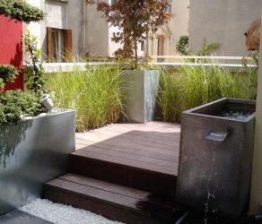 Terrasse réalisée par le Jardinier Paysagiste La main verte