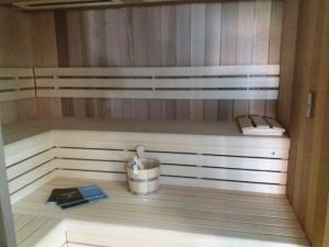 cabine sauna azento prima black la main verte. Black Bedroom Furniture Sets. Home Design Ideas